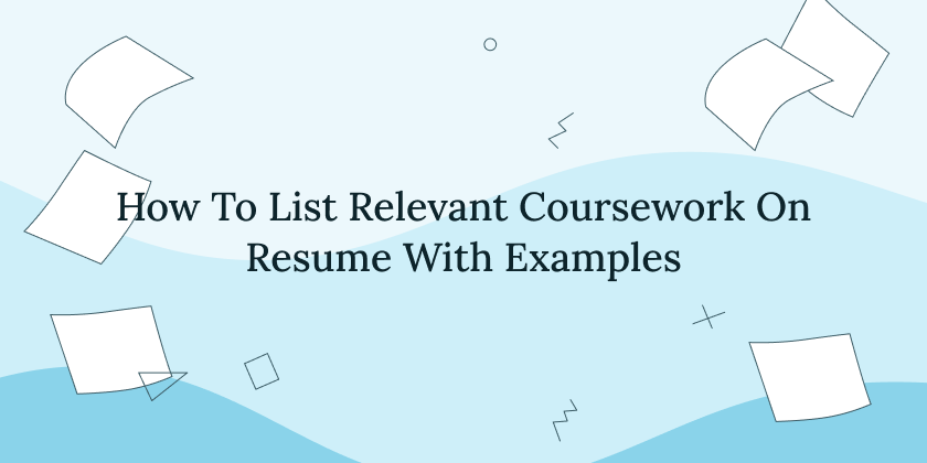 how-to-list-relevant-coursework-on-resume
